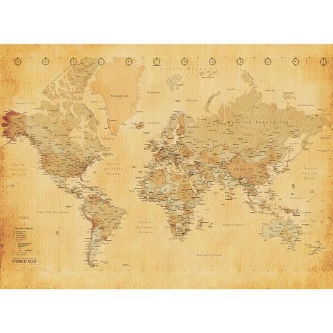 Vintage world map wallpaper mural wallpaper murals cottage ideas vintage world map wallpaper mural worldstores gumiabroncs Choice Image