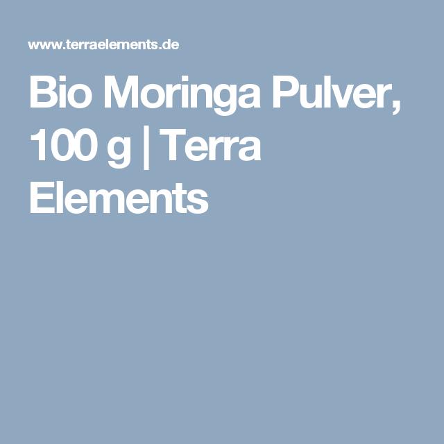 Bio Moringa Pulver, 100 g | Terra Elements