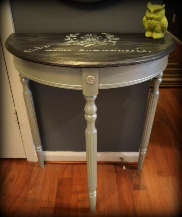 small demilune hall table. Small Demi-lune Hall Table Demilune N