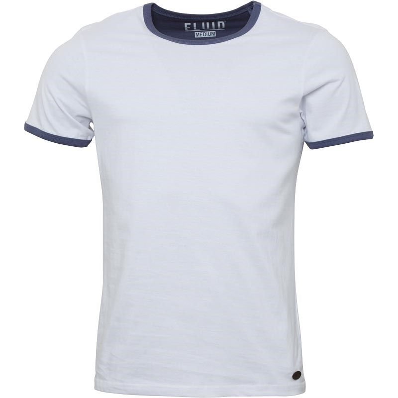 Fluid Mens Plain Ringer T-Shirt White/Navy Fluid short sleeve jersey tee with contrast ribbed trim detailing. http://www.MightGet.com/february-2017-2/fluid-mens-plain-ringer-t-shirt-white-navy.asp