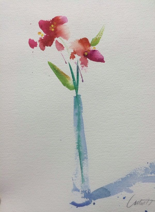 80 Simple Watercolor Painting Ideas Floral Watercolor Paintings