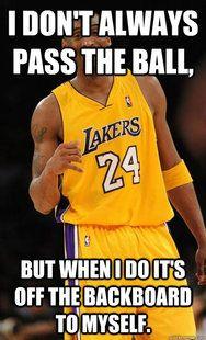 Oh Ok Wow Bball Hog Funny Nba Memes Nba Funny Kobe Bryant Memes