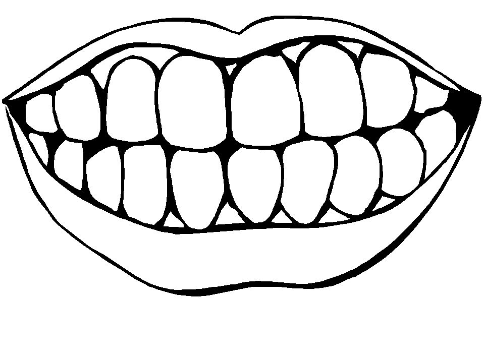 teeth coloring page # 1