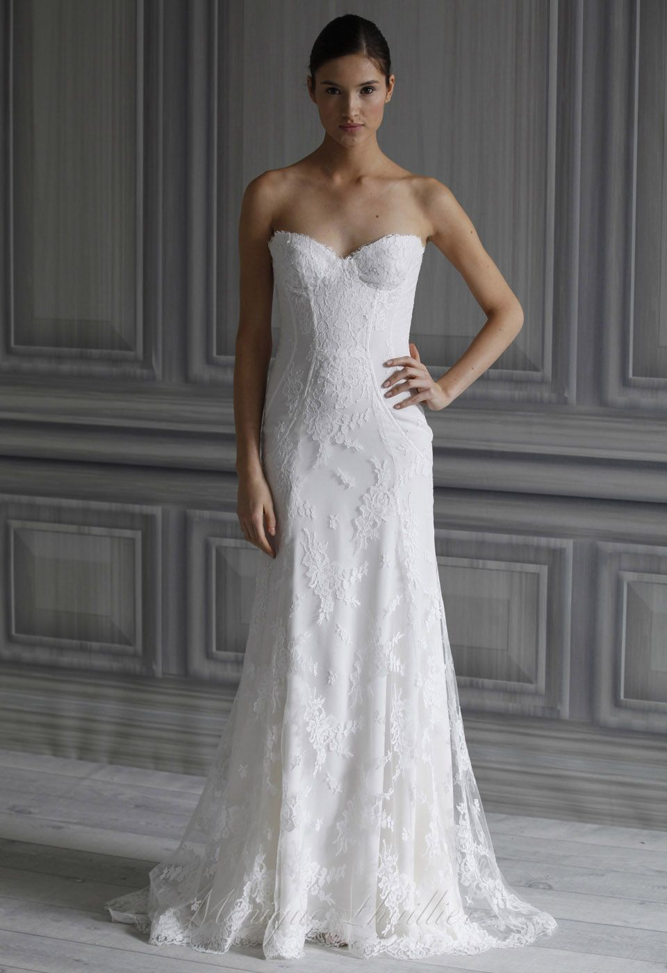 Monique lhuillier wedding dress bridal collection spring