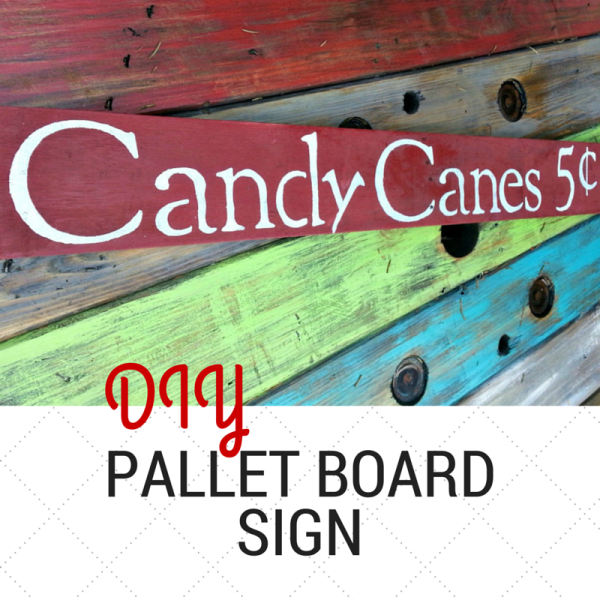 DIY Pallet Board Upcycled Sign