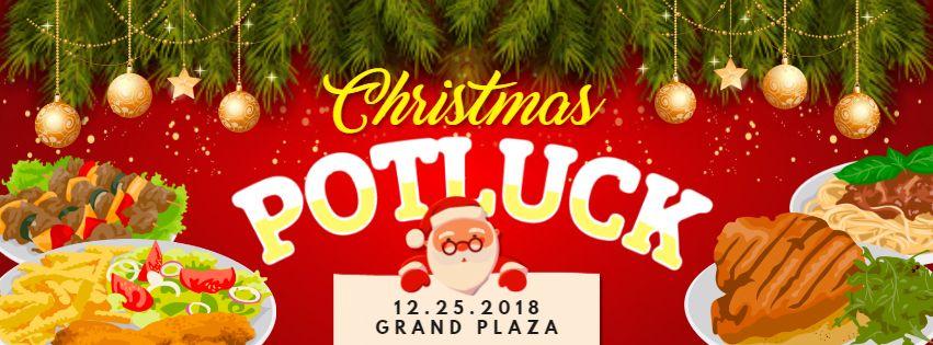 Christmas Potluck Invitation Facebook Banner Design Christmas