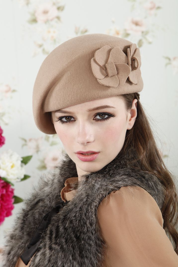 f13c6d18b10bb2 Hats for women girl 100% wool beret red black camel hat beret ear wool tea  party hats french beret hat cool beanies-in Berets from Apparel.
