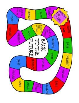 Verb Tense Grammar Activity Past Present Future Game With