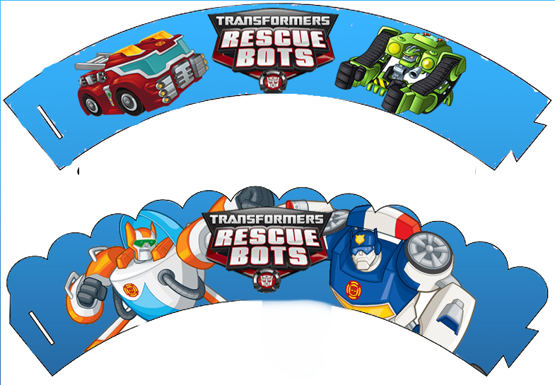 Transformers Rescue Bots Free Printable Cupcake Wrappers