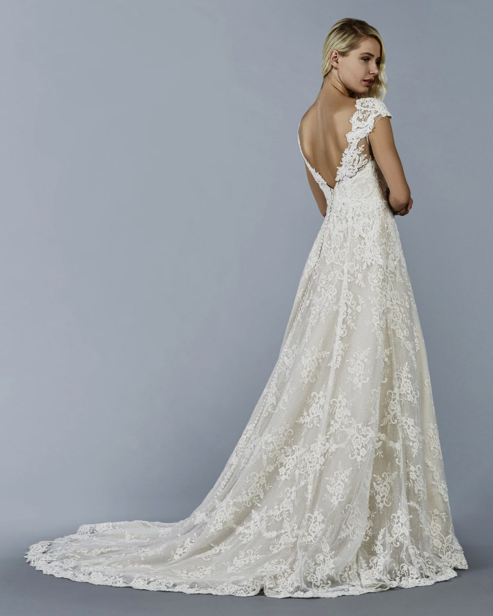Cyrus wedding dress by Kelly Faetanini // Textured tulle champagne ...
