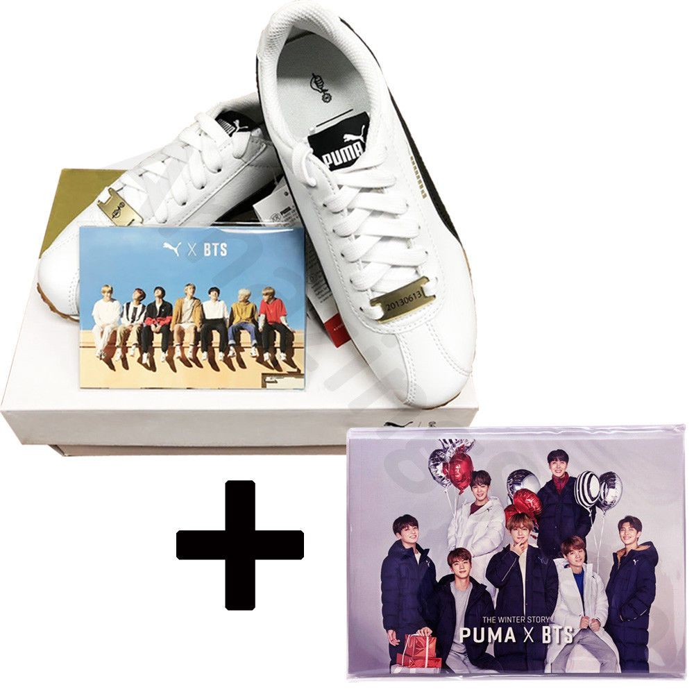 79f196be7110db BTS Official Goods - PUMA X BTS TURIN Shoes + Photo Card + Free Photobook  22Page