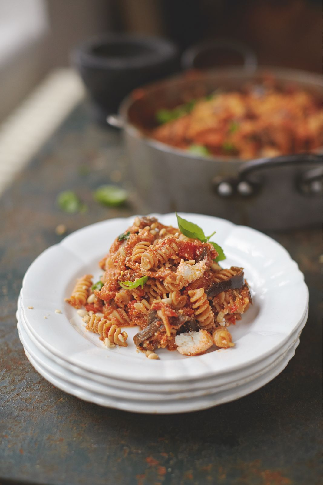 Happiness Pasta Sweet Tomato Aubergine And Ricotta Recipe