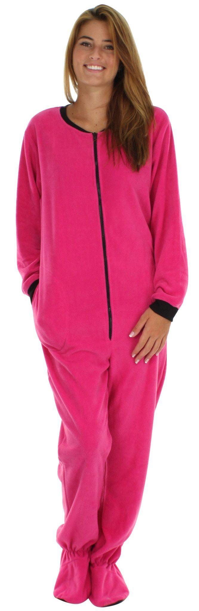 PajamaMania Women's Footed Fleece One Piece Pajamas