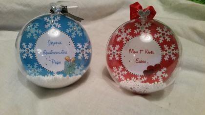 Boule de Noël personnalisée avec photo (Mon 1er Noël)   Création