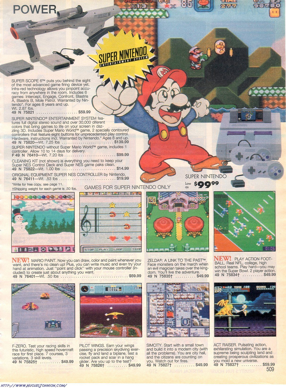 1992 Sears Catalog SNES ad | Gamer art | Pinterest | Games, Video ...
