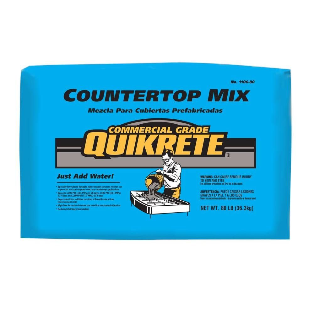 Quikrete 80 Lb Commercial Grade Countertop Mix 1106 80 At The Home Depot Concrete Diy Mix Concrete High Strength Concrete