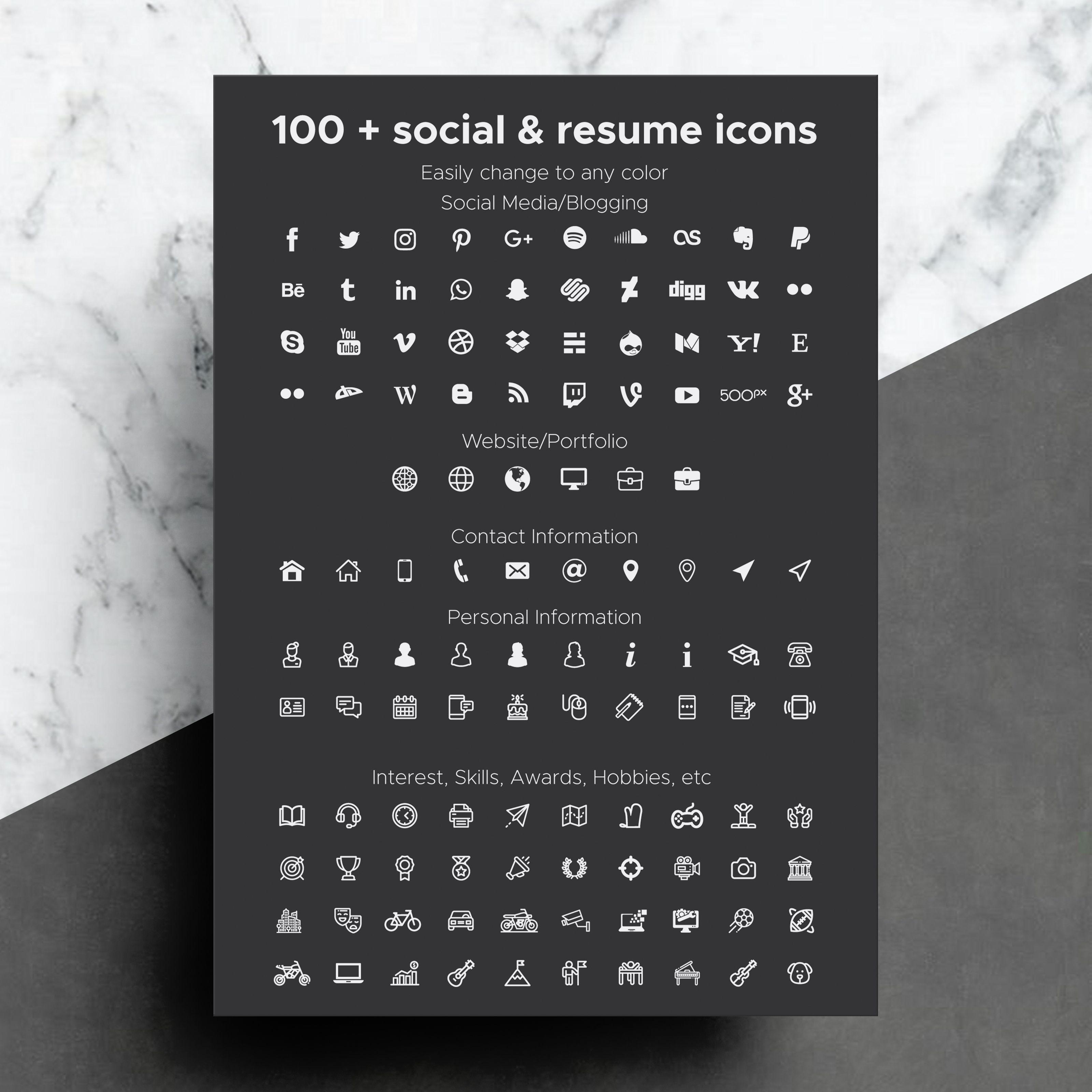 social media resume words