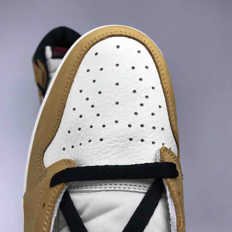 Air Jordan 1 Retro High Og Wheat Aj1 White Black And Yellow Gold