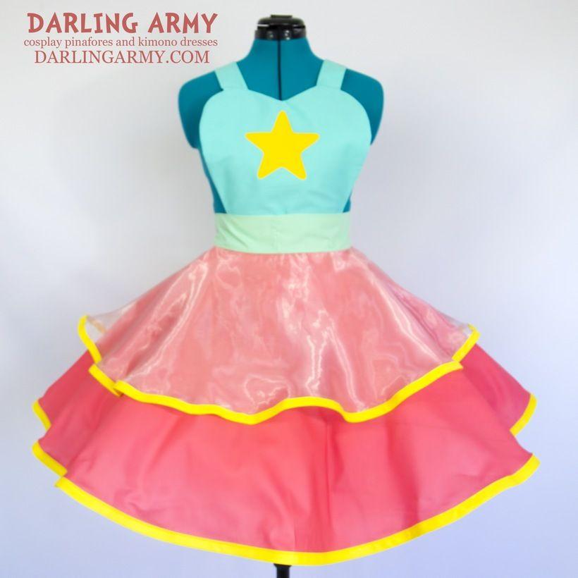 Pearl Steven Universe Cosplay Lolita Pinafore Dress Accessory ...