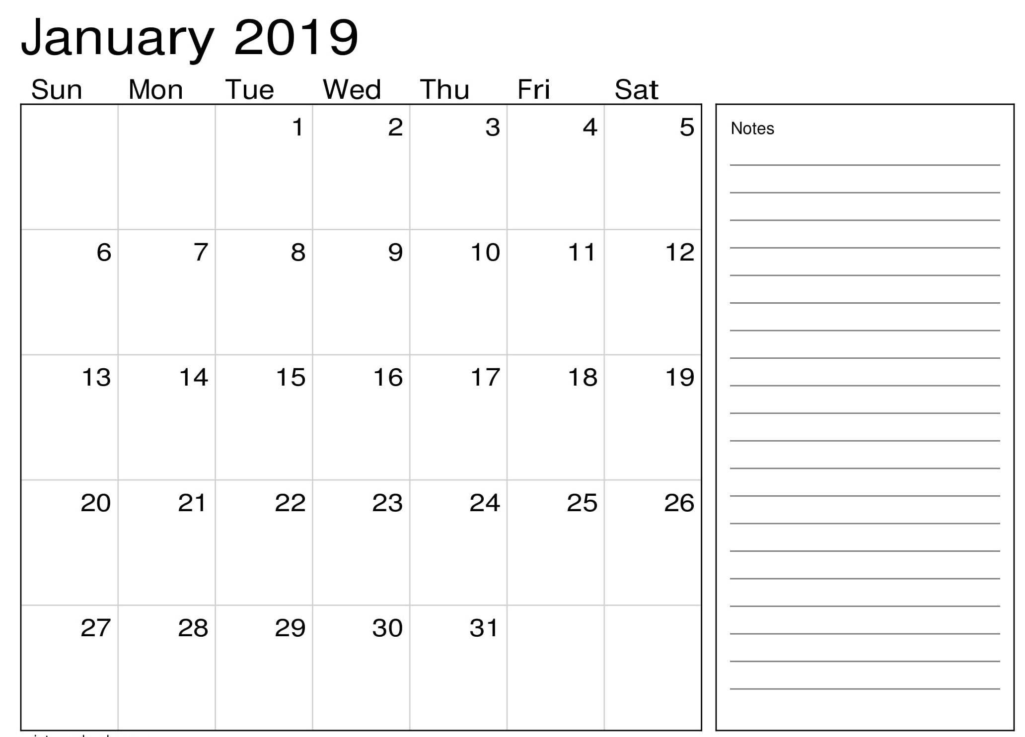 January 2019 Calendar Pdf August Calendar Calendar 2019