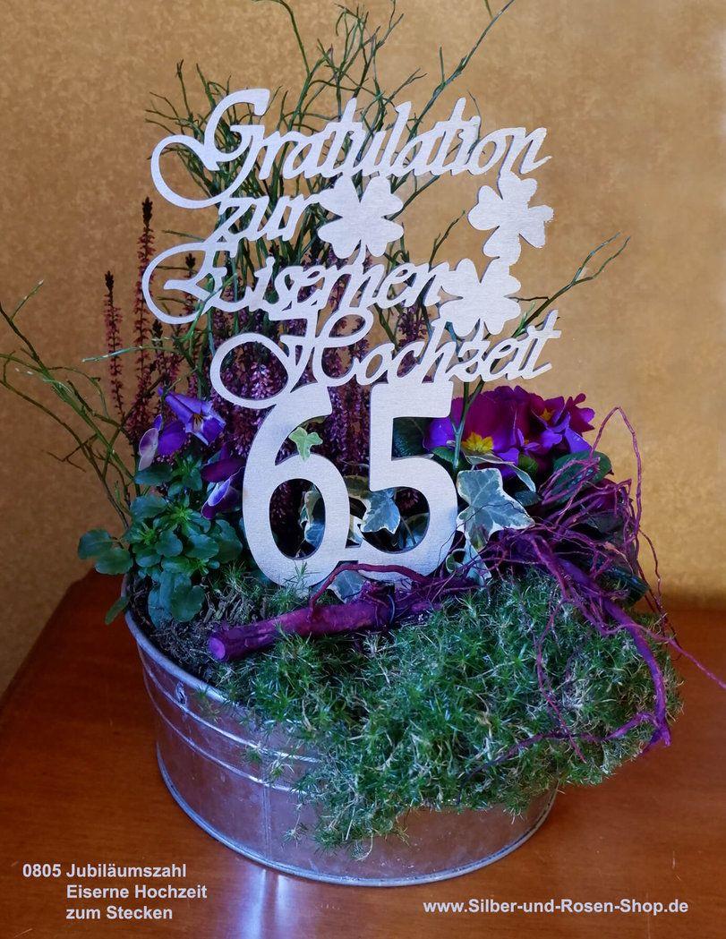 Jubilaumszahl 65 Eiserne Hochzeit Zum Stecken Eiserne Hochzeit Hochzeit Jubilaum