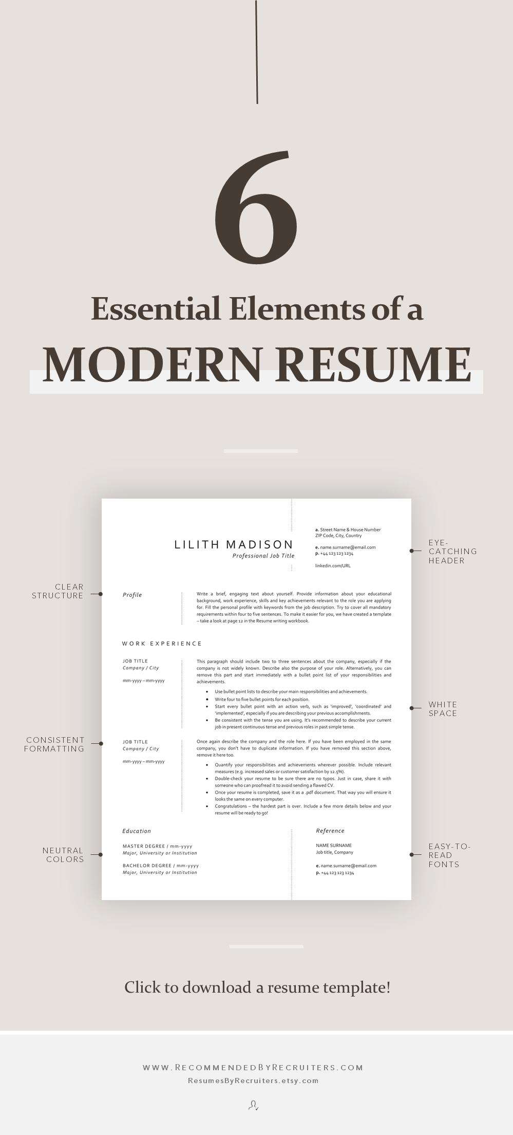 Resume Template Nurse Instant Download Classic Cv For Etsy In 2020 Resume Template Medical Resume Template Resume Design