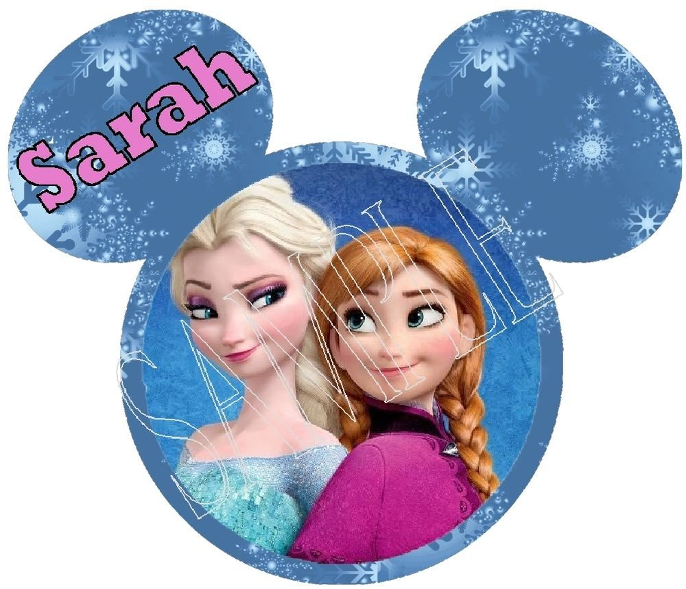 Disney Family Vacation Personalized FROZEN ELSA & ANNA Iron On T Shirt Transfer
