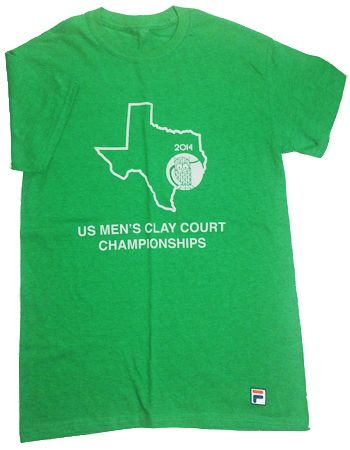 Official 2014 U.S. Men's Clay Court Championship T-Shirt for men.