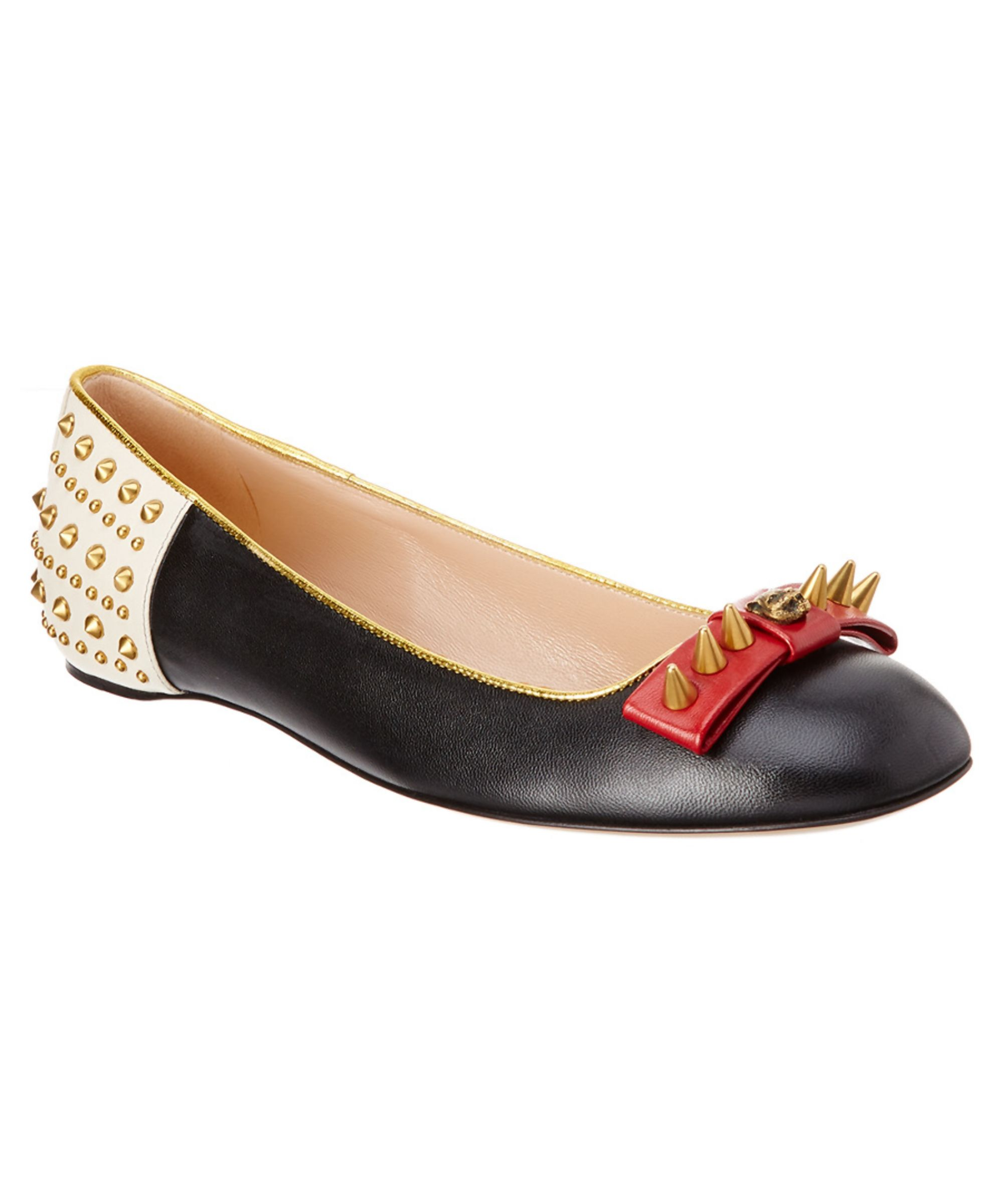 7c96126ac GUCCI   Gucci Lexi Stud Embellished Ballerina Flat #Shoes #Pumps & High  Heels #GUCCI