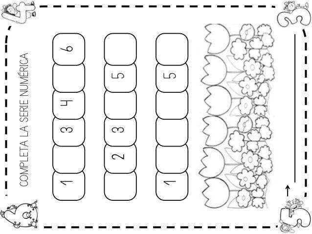 Fichas números 1-6 | Fichas, Juegos de formas, Figuras geometricas ...