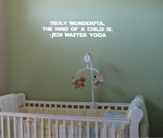Star Wars Baby S Room Vinyl Wall Decal By Stickwithmekid On Etsy 35 00 Star Wars Baby Room Baby Boy Rooms Star Wars Nursery