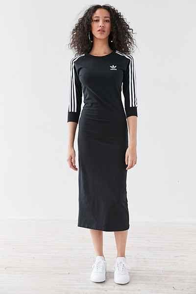 adidas Originals 3 Stripe Midi Dress  5ff0fe28bb01