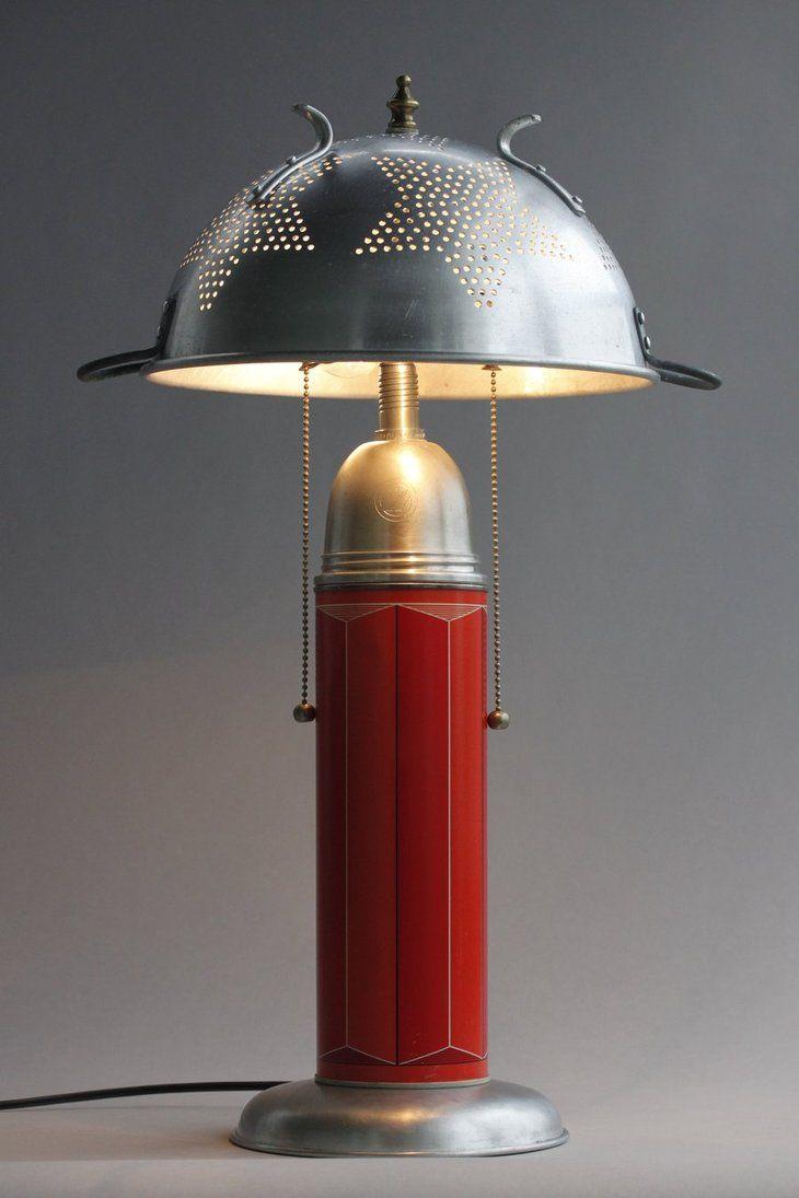 une lampe qui laisse passer la lumi re recycled lamp esprit r cup pinterest lampes. Black Bedroom Furniture Sets. Home Design Ideas