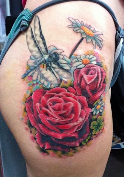 Rose Garden Tattoo By Betty B