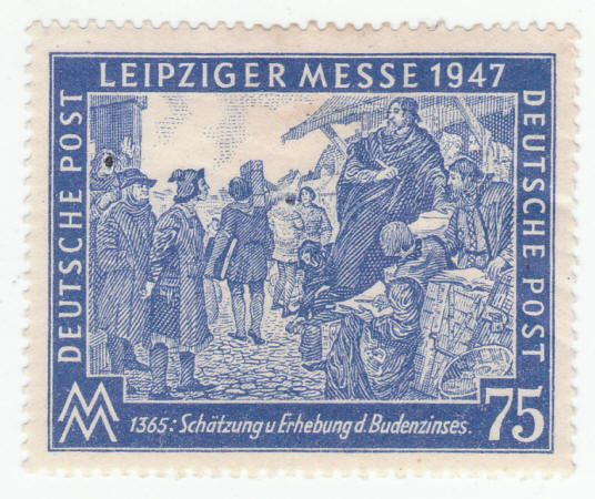 1947 Germany Leipziger Messe Postage Stamp Unused, XF or