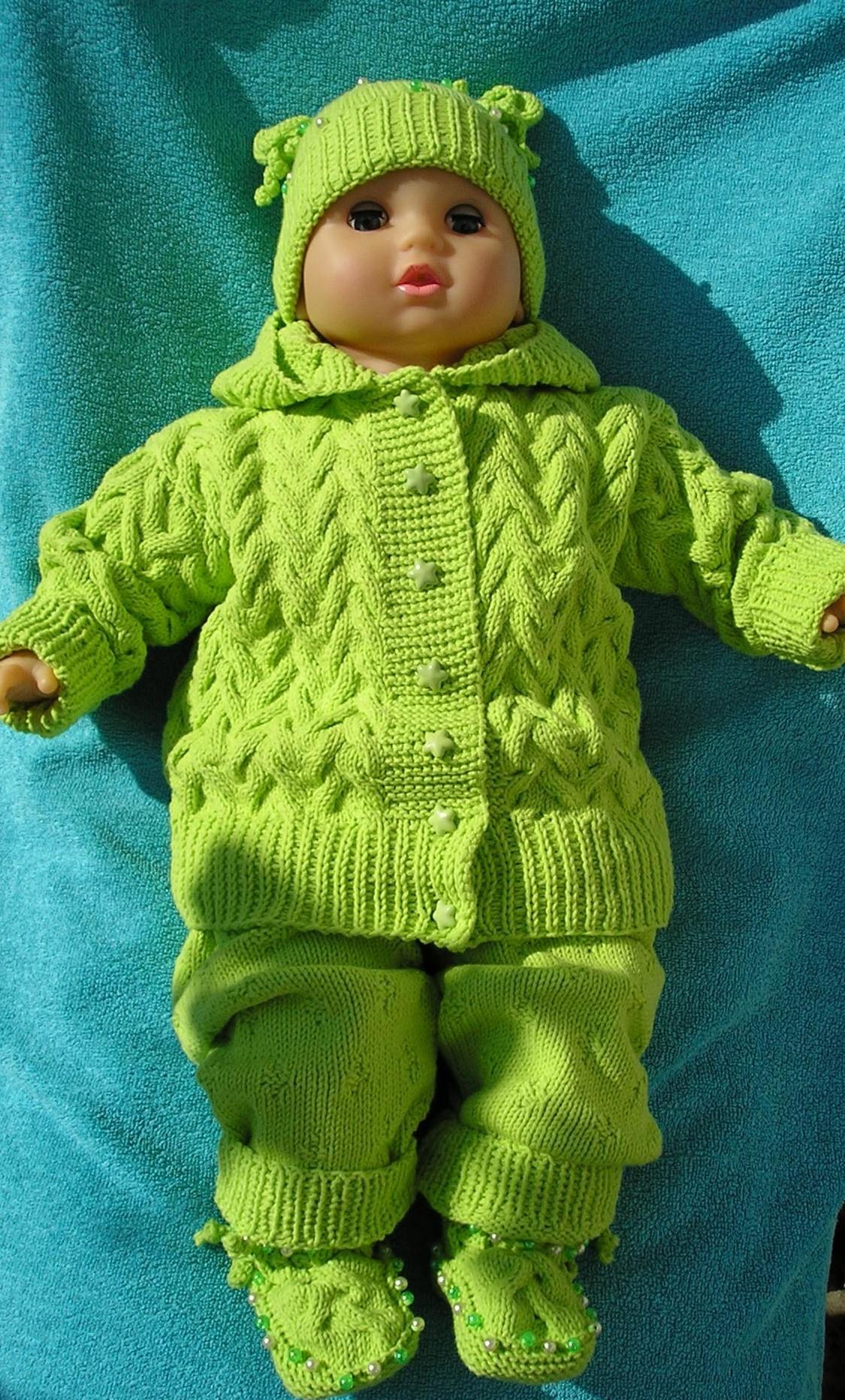 Вязаный комплект для девочки--вязание для малышей--вязание ...