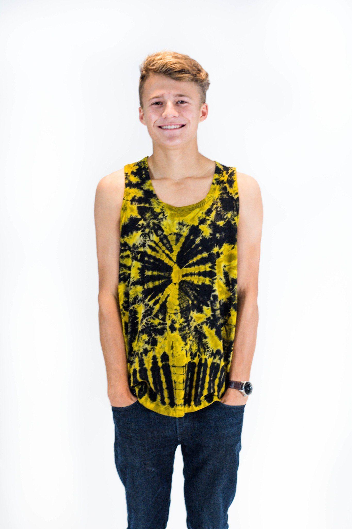 Men's Tank Top Tie Dye Yellow
