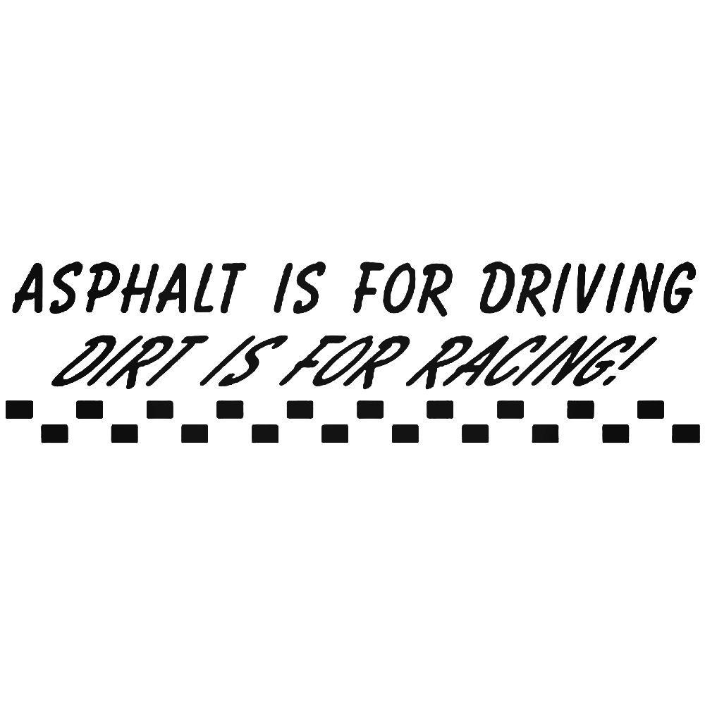 Asphalt dirt racing sticker with images racing