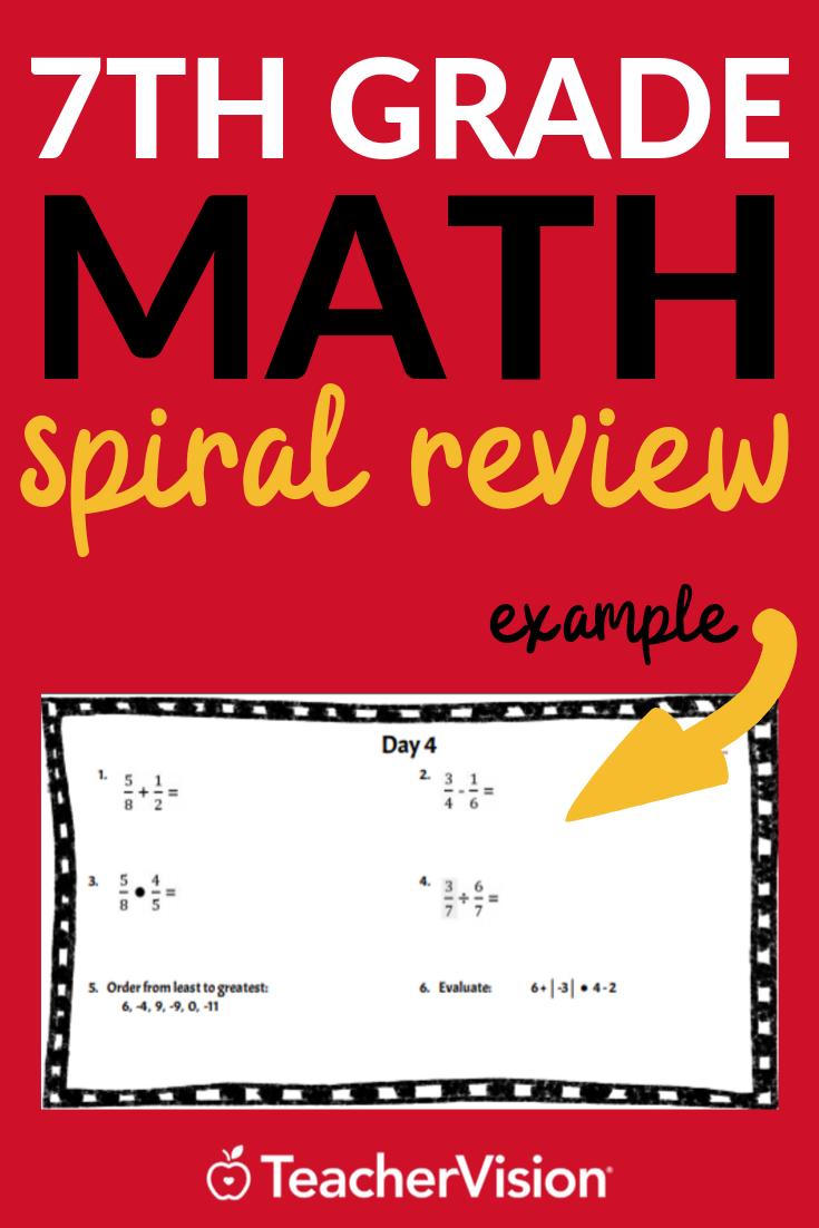 7th Grade Math Spiral Review Bellringers Math Spiral Review Spiral Math Math Packets [ 1102 x 735 Pixel ]
