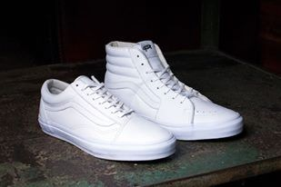 White low cut and High top sneakers by Vans  b5ad85f13