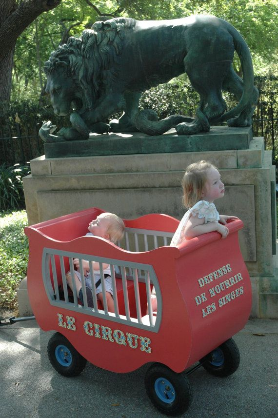 Create a CIRCUS wagon and put CIRCUS animals ie. monkey, lion, giraffe, bear, etc. inside to ride the train.