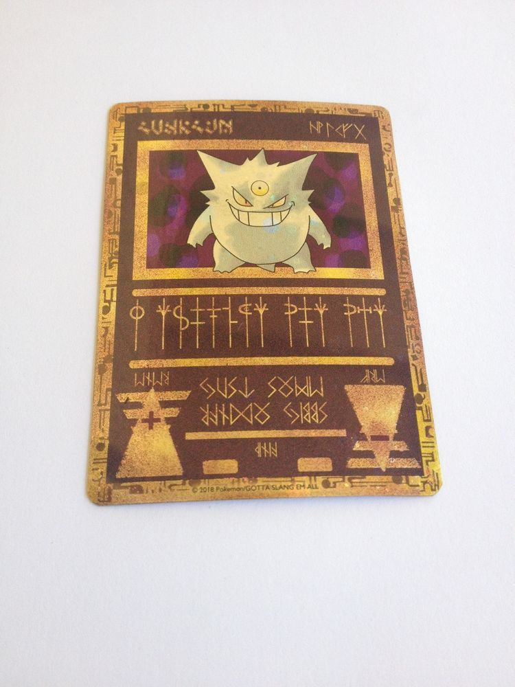 ANCIENT MEGA GENGAR EX XY - FULL ART PROXY ULTRA RARE HOLO