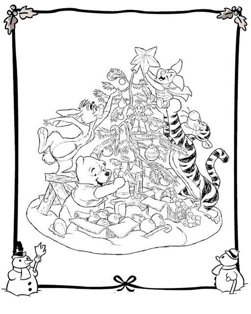 Oso Pooh Y El árbol Navidad Pooh Oso Pooh Winnie De Pooh