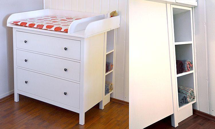 Wickelaufsatz Regal Fur Ikea Hemnes Schmal Babyzimmer