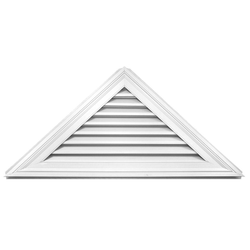 11 12 Triangle Gable Vent 001 White Gable Vents Builders Edge Fiberglass Screen