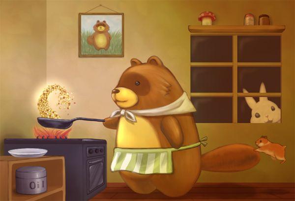 夜食に黄金チャーハン作るよ!