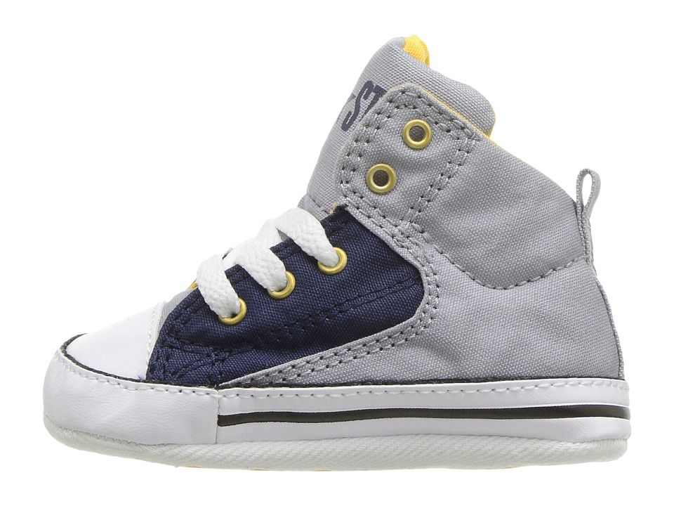 5d74038e2803 Converse Kids Chuck Taylor All Star First Star High Street - Hi (Infant  Toddler) Boys Shoes Wolf Grey Midnight Navy White