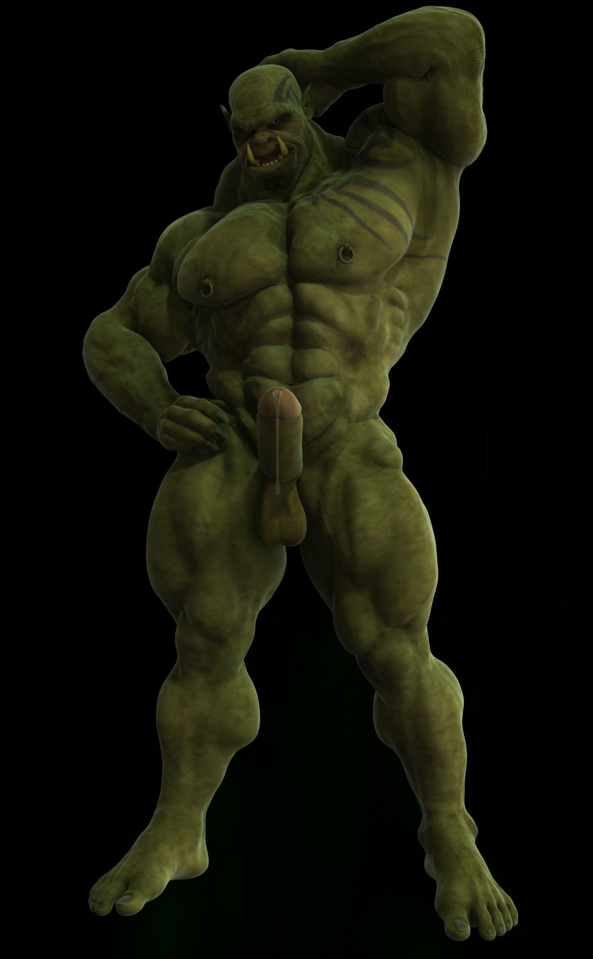 Discussion half orc male naked