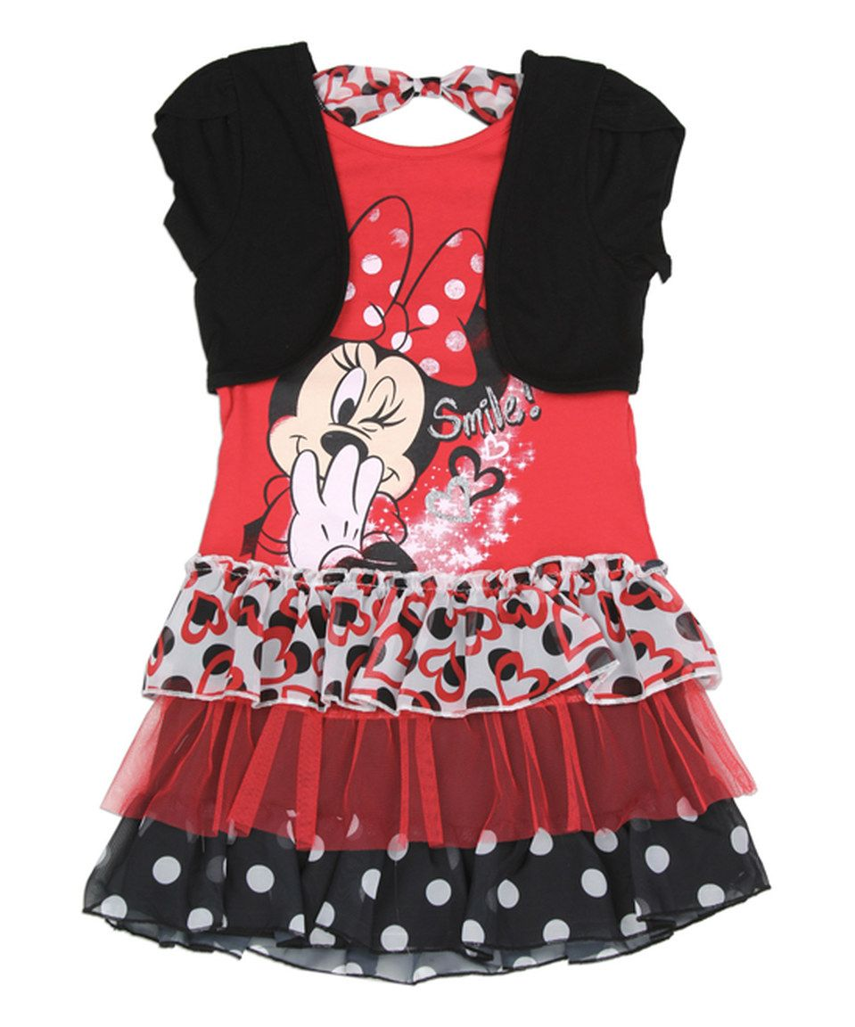 Disney Baby Minnie Mouse Pretty Toddler Girls Layered Fashion Tank Top
