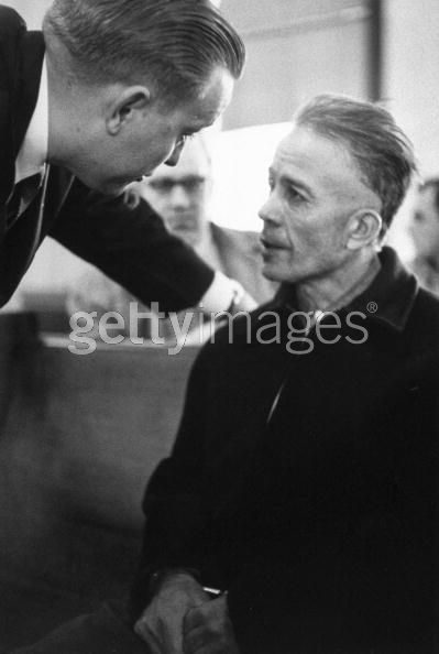 Alleged Mass Murderer Ed Gein Getting Advice From His Lawyer